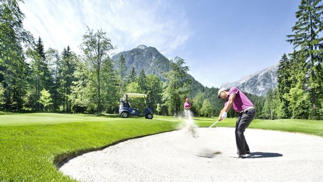 wiesenhof achensee golf abschlag sandbunker